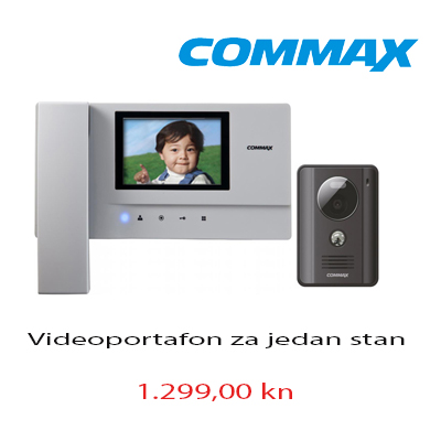 Commax videoportafon za jedan stan